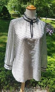 J.Crew black & white blouse Size 8